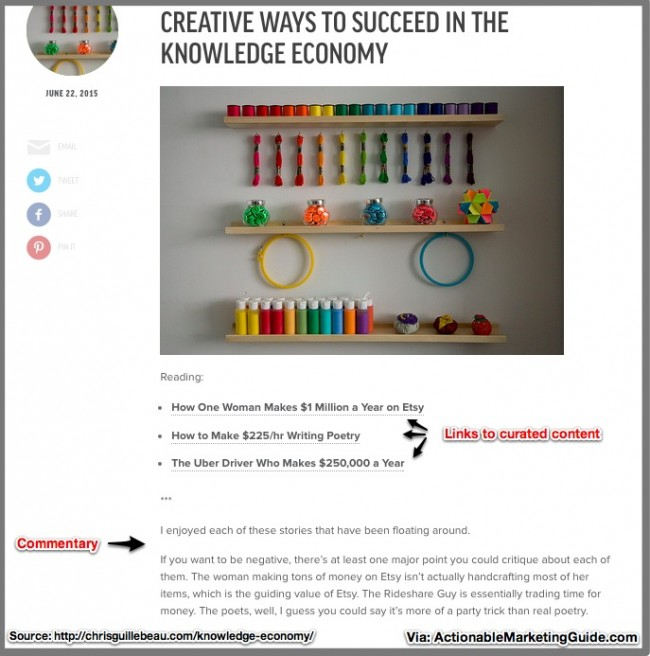 Content Curation by Chris Guillebeau via ActionableMarketingGuide