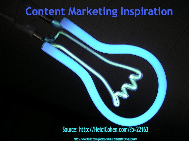 Content Marketing Inspiration-Light Bulb