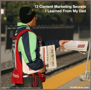 Content Marketing Lessons I Learned From My Dad