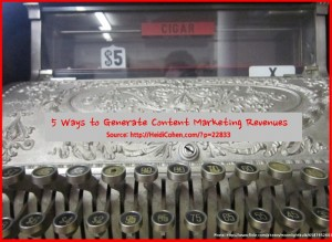 Content Marketing Revenues