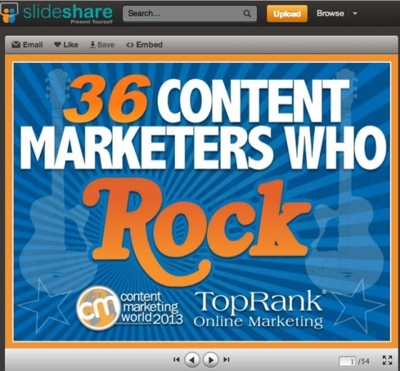 Content Marketing Rocks- 36 Tips from Rock Star Brands & Marketers