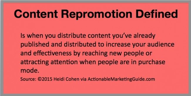 Content Repromotion Defined