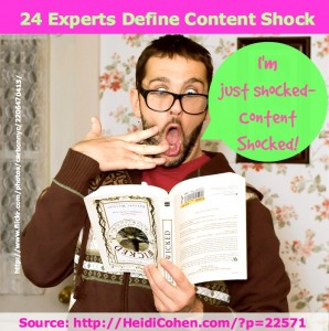 24 experts define content shock