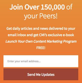Joe Puliizzi's key content marketing metric: email registrations