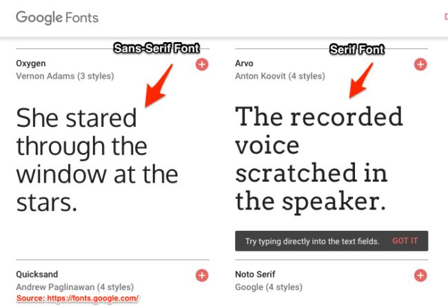 Content Typography-Serif vs Sans Serif Fonts