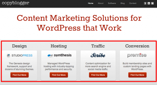 Create internal content products - sofrware, content