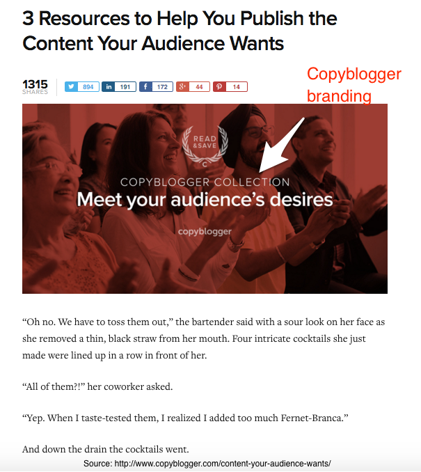 Copyblogger Content Curation - Branded