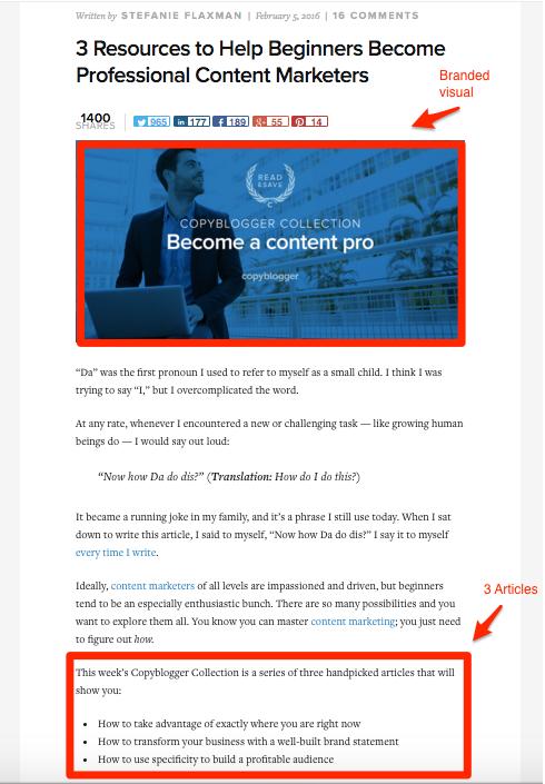 Copyblogger curation-qualified blog post idea