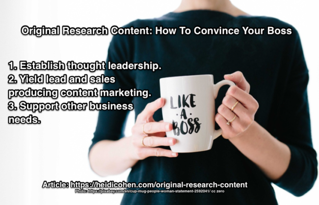 Why Use Original Research Content