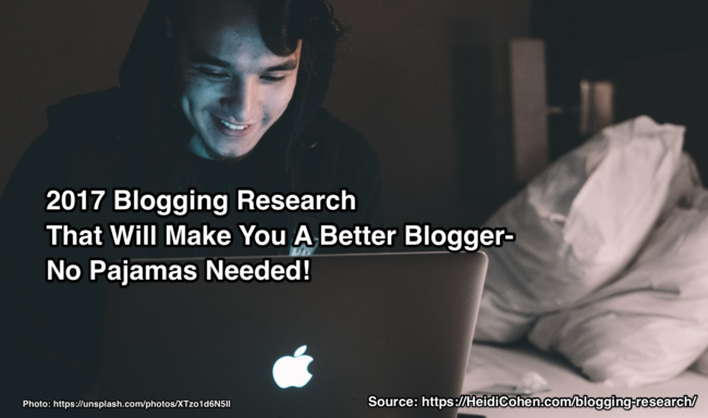 Blogging research