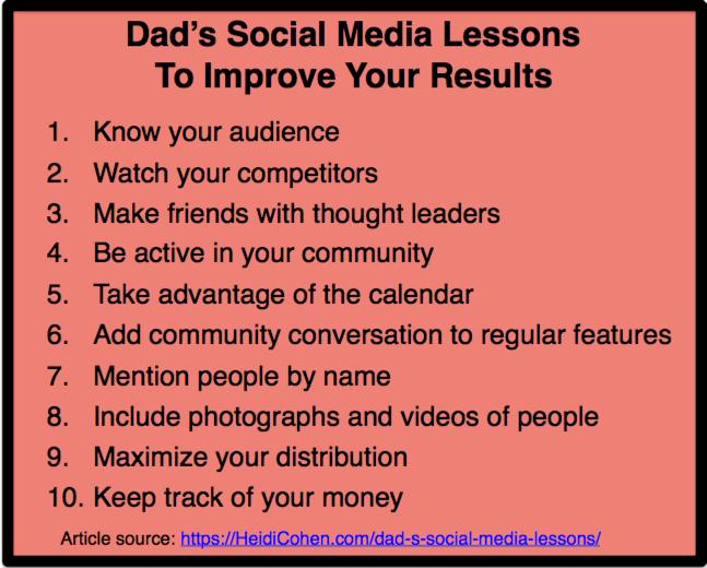 Dad's Social Media Lessons