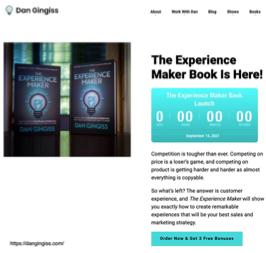 Dan Gingiss book page