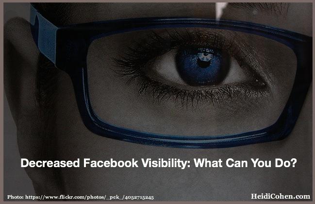 Decreased Facebook Visibility