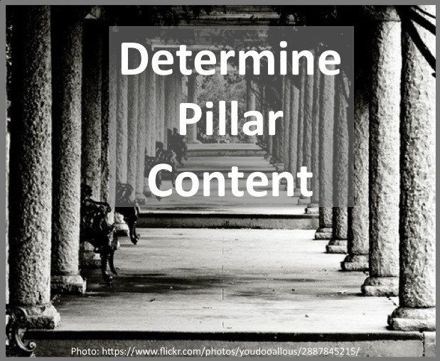 Determine the key pillar content for your business