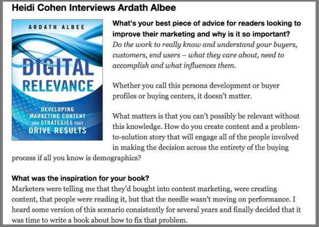 Actionable Marketing Guide - Author Interview with Ardath Albee