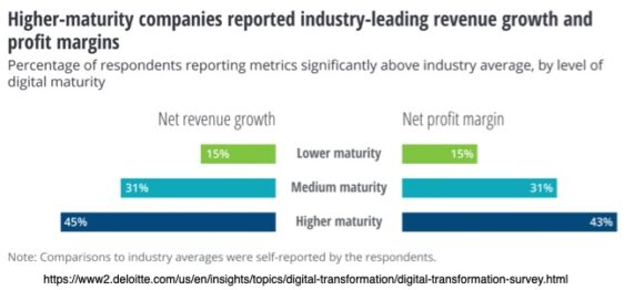 Higher-maturity companies reported industry-leading revenue growth and profit margins