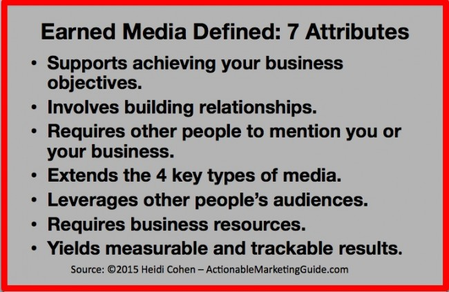 Earned media definition
