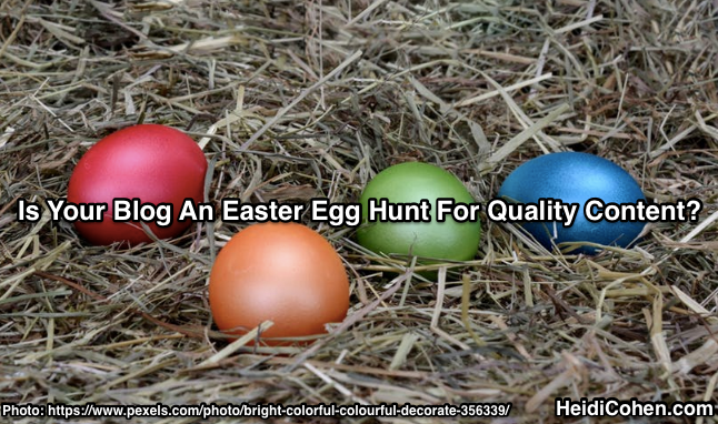 Easter Egg Hunt for Findable Blog Content
