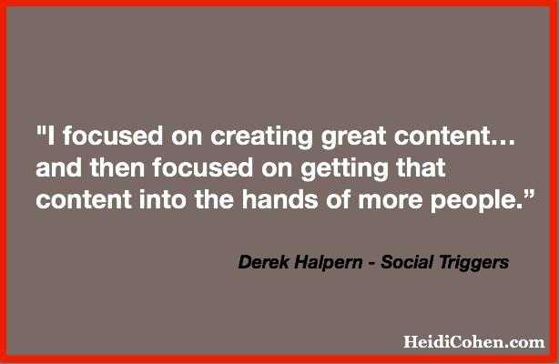 Easy BLog Fixes-Quote-Derek Halpern via HeidiCohen