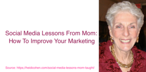 social media lessons from mom
