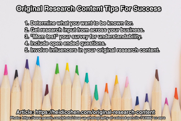 Original Research Content Tips