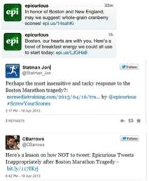 Epicurious tweets