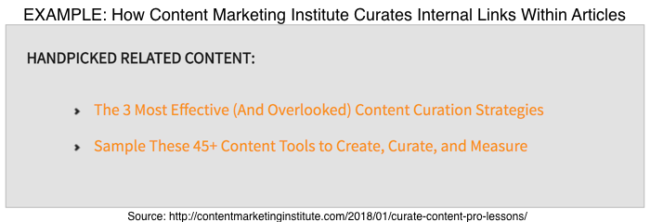 Internal content curtion