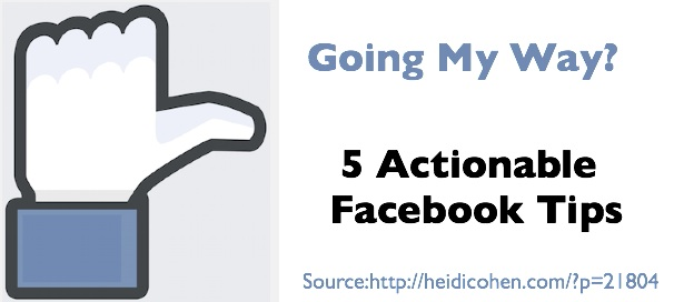 5 Actionable Facebook Tips