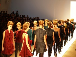 NYC Bryant Park Fashion Runway
