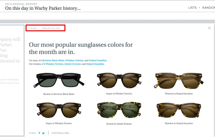 Corporate Communications Re-envisioned as Content Marketing - One Day at Warby Parker