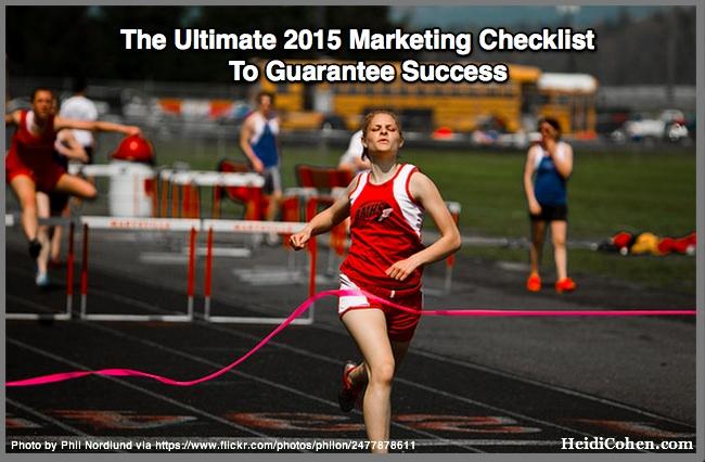 The Ultimate 2015 Marketing Checklist