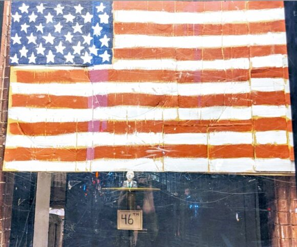 Flag in Fishs Eddy Window