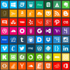 Flat Icons of Social Media | Icons Graphic Design Junction