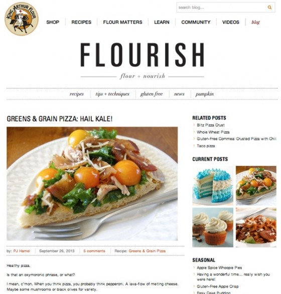King Arthur's Flour Blog - Flourish Supplies Recipes With Photographs