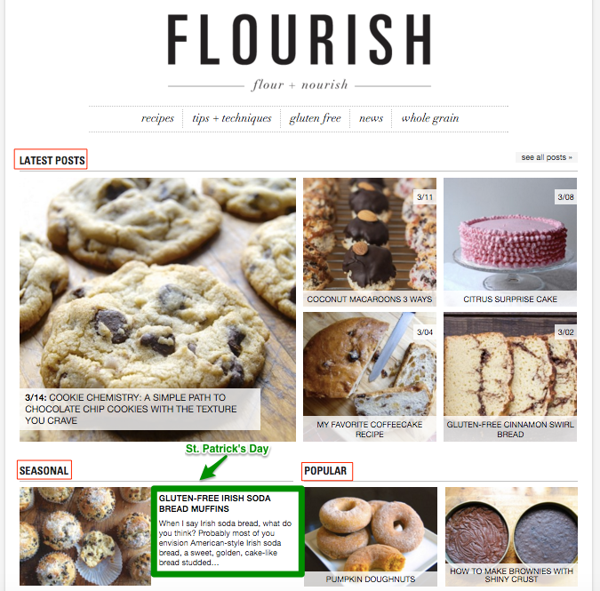 Irish Soda Bread Promoted On King Arthur Flour Blog Homepage