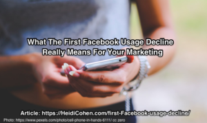 First Facebook Usage Decline