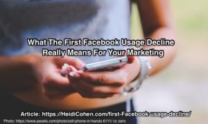 First Facebook Usage Decline