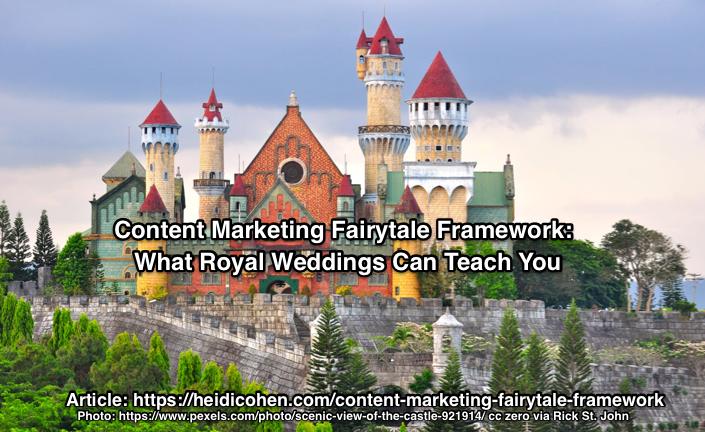Content Marketing Fairytale Framework: What Royal Weddings