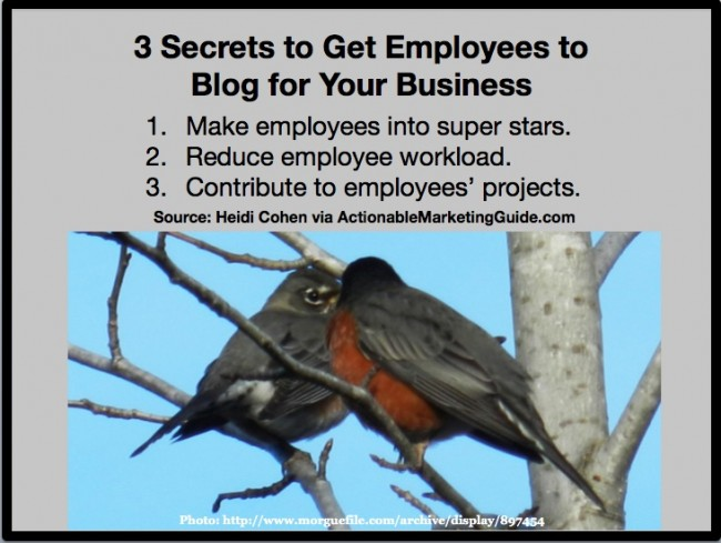 Get Employees To Blog For Your Business-Heidi Cohen