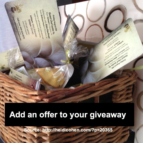 Giveaway with offer -HeidiCohen