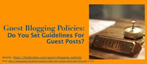 Guest Blogging Policies