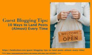 Guest Blogging Tip
