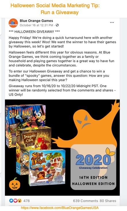 Halloween Social Media Marketing Tip-Giveway