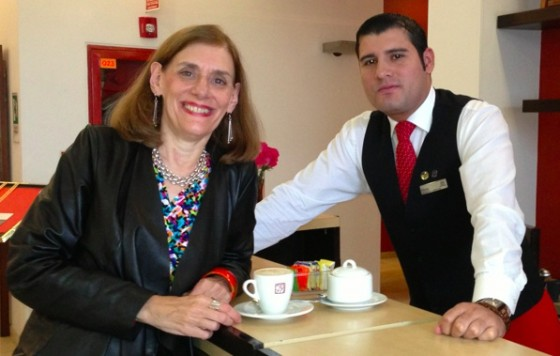 Heidi Cohen Has Juan Valdez Coffee at Bogota Sheraton