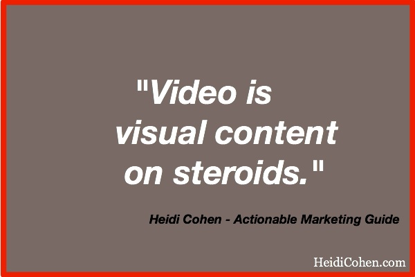 Heidi Cohen on Video