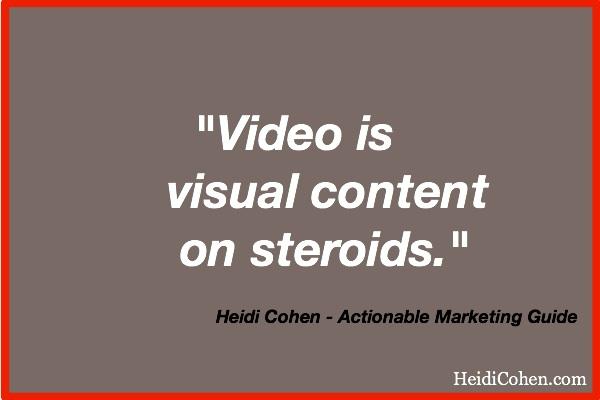 Heidi Cohen on Video