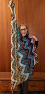 Heidi and her Hedgehog Fibres shawl-How to Super-Size Your marketing