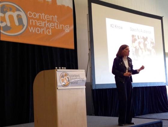 Heidi Cohen speaking at CMS 2013