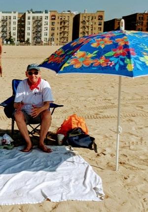 Heidi on the beach