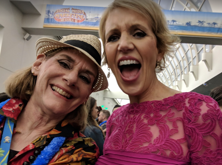 Heidi Cohen and Mari Smith